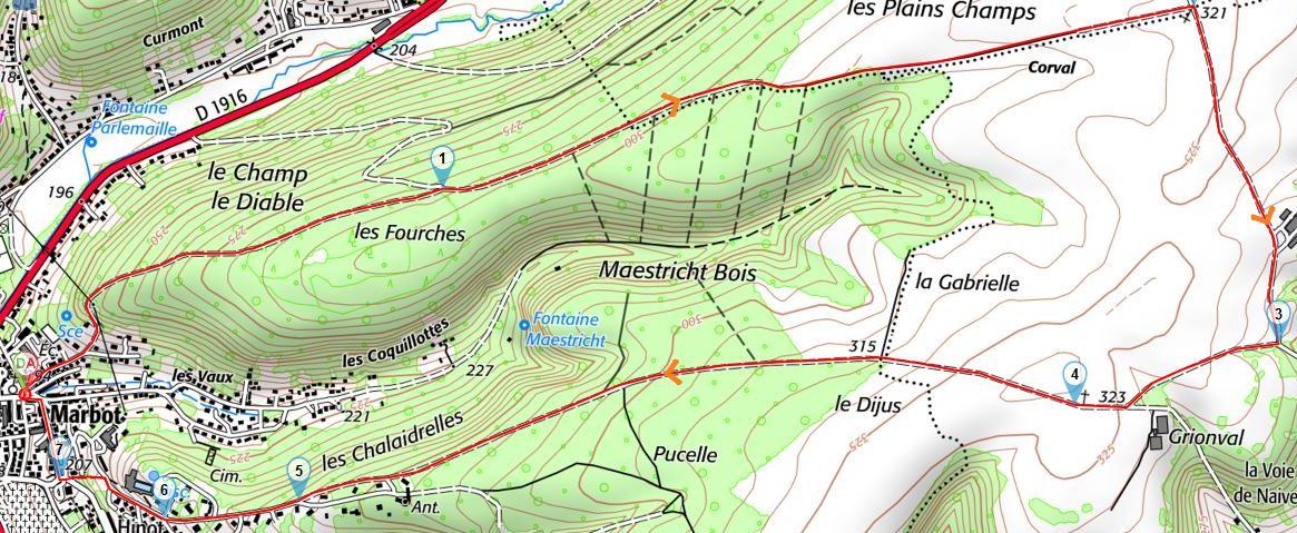 De l'Église de Marbot à Bar-le-Duc vers le Plateau deResson